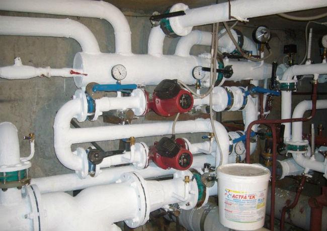 Трубы, утепленные термокраской
