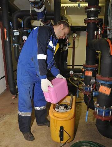Подготовка очищающей жидкости для дисперсной прочисткой