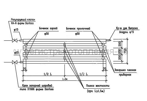 Схема подключения регистров отопления