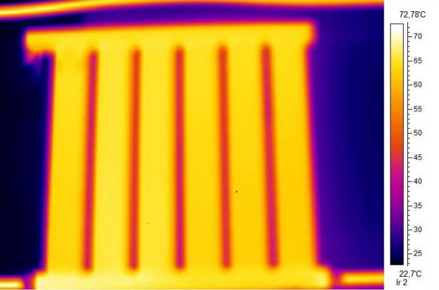Тепловизионная съемка прибора, сделанная тепловизором SATS-280.
