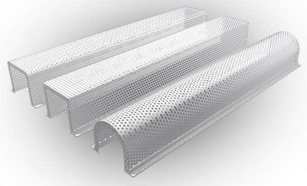 Различные формы защитных экранов для труб отопления.