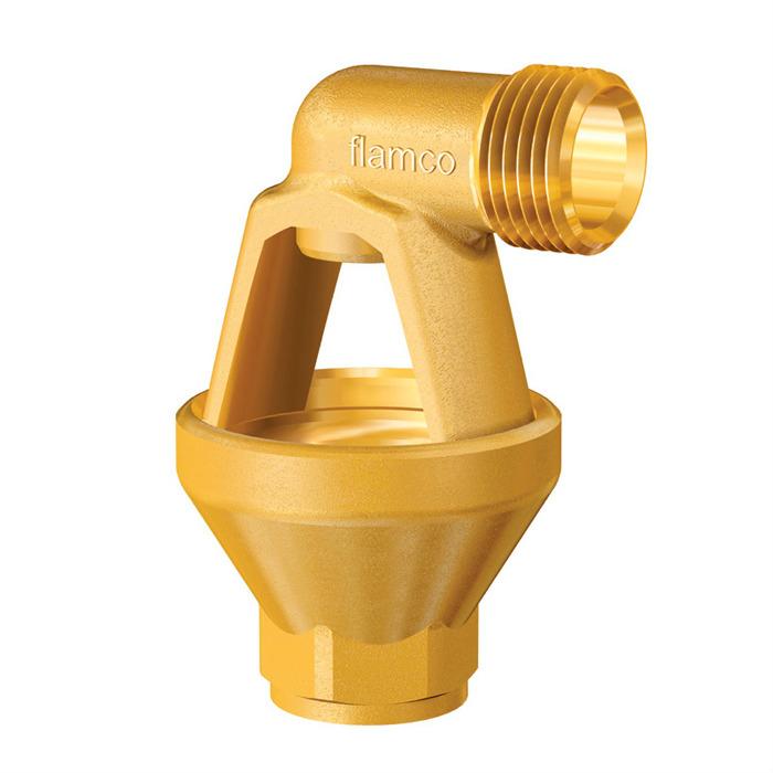 Латунная воронка Flamco Funnel (Нидерланды) с подсоединением к клапану диаметром ½ или ¾ дюйма.