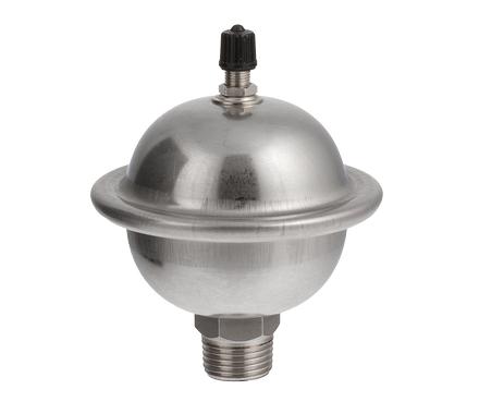 Гаситель мембранного типа Valtec CAR 19. Объем - 0,162 л. Макс. давление при гидравлическом ударе – 20 бар. Стоимость около 1 500 руб/ед.