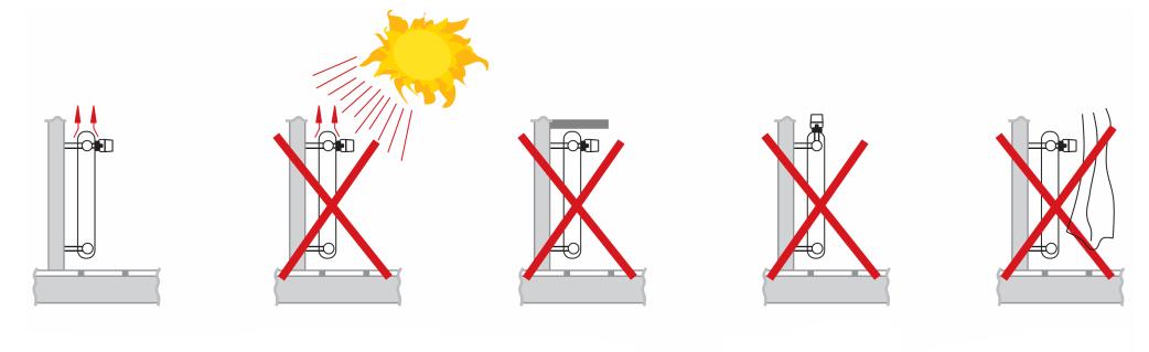 Правильная установка термоголовки.