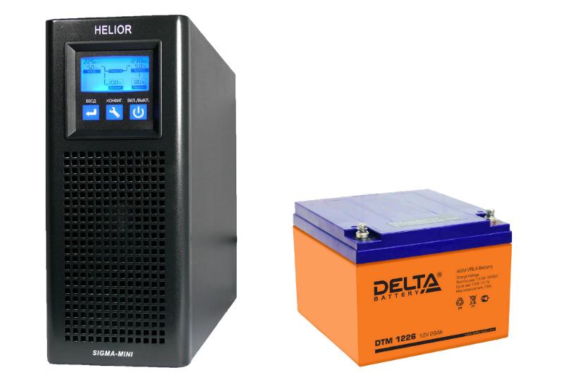 Helior Sigma - ИБП для газовых котлов с аккумулятором Delta DTM 1226.