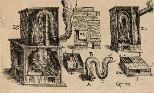 Еще в 1618 году Франц Кесслер предлагал использовать перегородки и «перевернутый сифон».