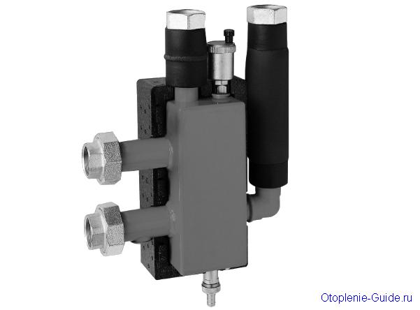 Стрелка от компании Meibes. Производительность до 3м³/час, макс. температура 110°C, макс. давление 6 бар.