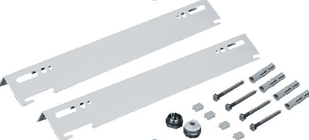 Стандартный комплект кронштейнов для стальных панельных радиаторов.