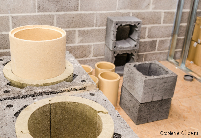 Монтаж дымоходной системы из керамики.