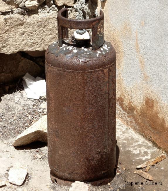 Старый газовый баллон подойдет в качестве основы для самодельного котла.
