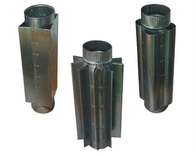 Воздушный конвектор на дымоход квадратный ерш для чистки дымохода